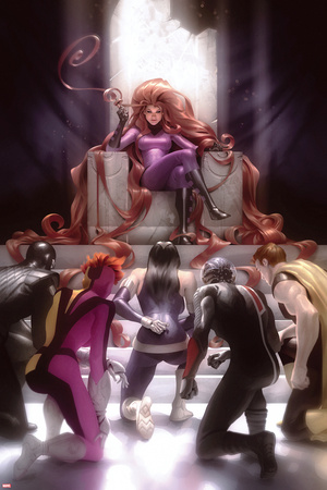 Squadron Supreme No. 8 Cover Featuring: Medusa, Nighthawk, Doctor Spectrum, Zarda, Blur, Hyperion Posters by Alex Garner