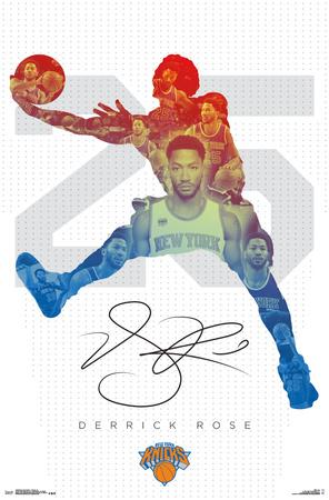 NBA: New York Knicks- Derrick Rose 16 Prints