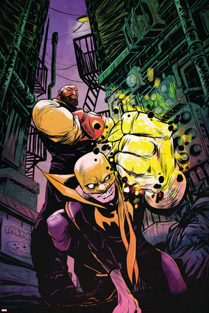 Marvel Knights Cover Art Featuring: Luke Cage, Iron Fist Posters