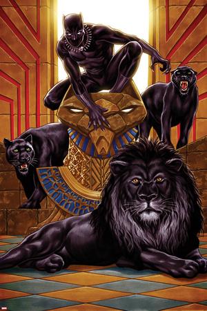 Black Panther No. 1 Cover Art Láminas por Mark Brooks