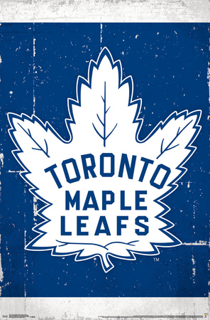 NHL: Toronto Maple Leafs- Retro Distressed Logo Poster
