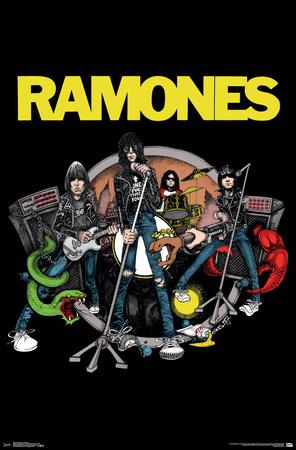Ramones- Animated Band Print