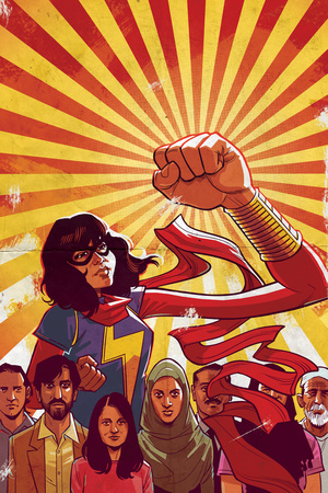 Ms. Marvel No. 8 Cover Art Featuring: Ms. Marvel (Kamala Khan) Prints by Cameron Stewart