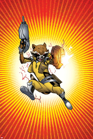 Guardians of the Galaxy Panel Featuring: Rocket Raccoon Posters