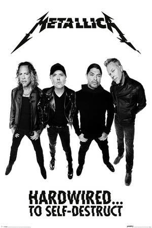 Metallica- Hardwired Band Members plakat