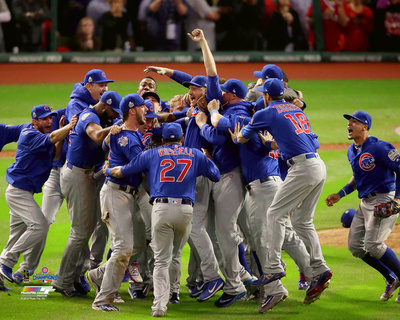 The Chicago Cubs celebrate winning Game 7 of the 2016 World Series Photo