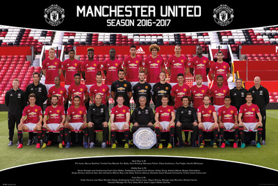 Manchester United- Team Photo 16/17 Print