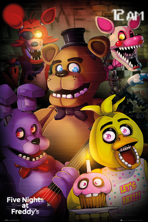 Five Night At- Freddys Group Affischer