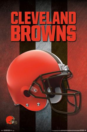 NFL: Cleveland Browns- Logo Helmet 16 Poster
