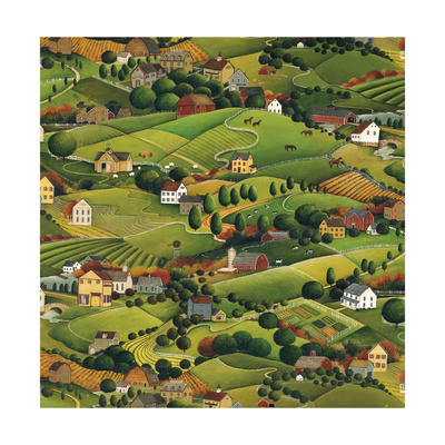 Pleasant Valley Prints by David Carter Brown