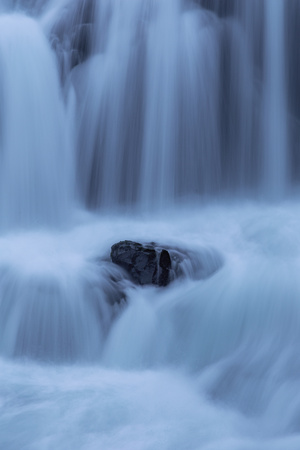 Peaceful Waterfall Flow, Outside Skógafoss, Waterfall Iceland Photographic Print by Vincent James