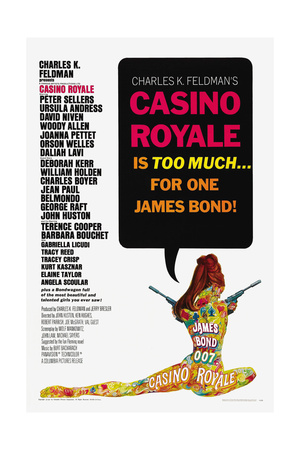 007, James Bond: Casino Royale,1967 Lámina giclée