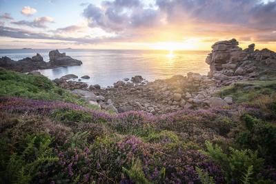 Cote De Granit Rose Sunrise Photographic Print by Philippe Manguin