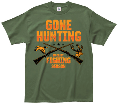 Gone Hunting T-shirts