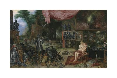 The Five Senses - Touch Premium Giclee Print by Sir Peter Paul Rubens