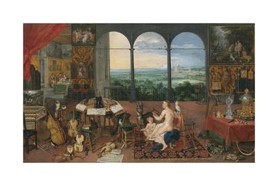 The Five Senses - Hearing Premium Giclee Print by Sir Peter Paul Rubens