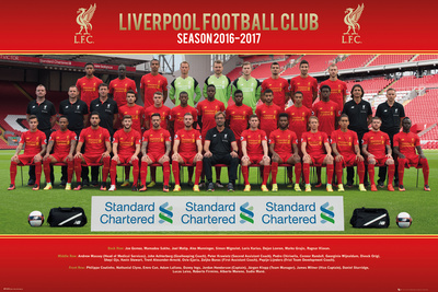 Liverpool- Team 16/17 Posters
