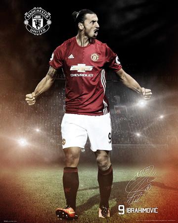 Manchester United- Ibrahimovic 16/17 Poster