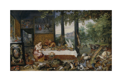 The Five Senses - Taste Premium Giclee Print by Sir Peter Paul Rubens