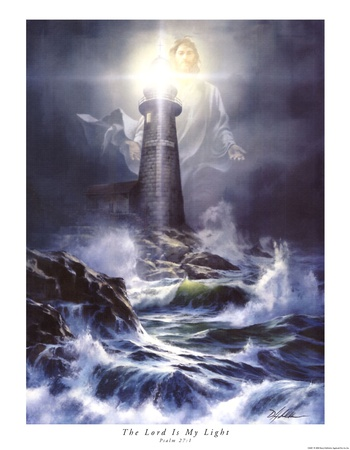 The Lord Is My Light Art by Danny Hahlbohm