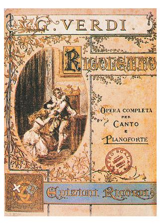 Giuseppe Verdi- Rigoletto Playbill Prints