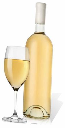 Glass and White Wine Figura de cartón