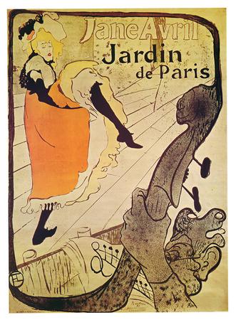 Henri Toulouse-Lautrec- Vintage Jane Avril Poster by Henri de Toulouse-Lautrec