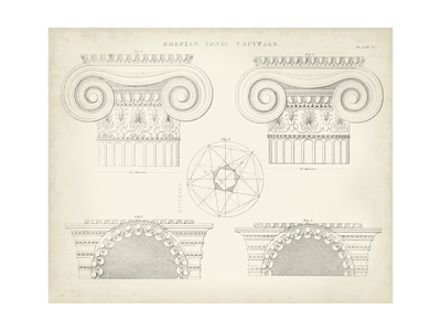 Greek and Roman Architecture VIII Print by Thomas Kelly