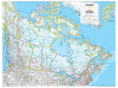 2014 Canada Political - National Geographic Atlas of the World, 10th Edition Posters af  National Geographic Maps
