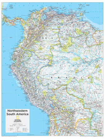 2014 Northwestern South America - National Geographic Atlas of the World, 10th Edition Prints by  National Geographic Maps