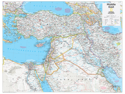 2014 Middle East - National Geographic Atlas of the World, 10th Edition Poster af  National Geographic Maps