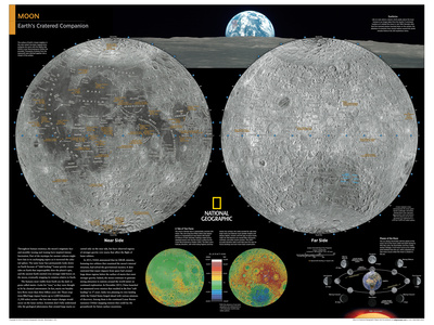 2014 Moon - National Geographic Atlas of the World, 10th Edition Posters by  National Geographic Maps