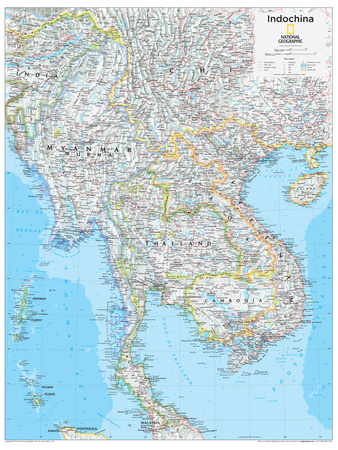 2014 Indochina - National Geographic Atlas of the World, 10th Edition Poster by  National Geographic Maps