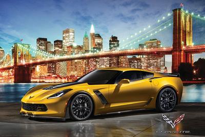 Chevrolet: Corvette- Z06 In New York Affischer