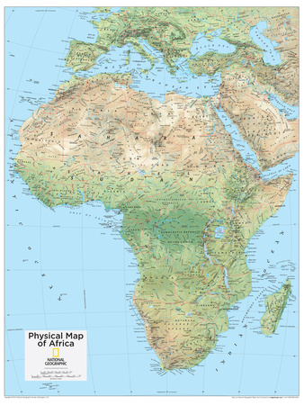 2014 Africa Physical - National Geographic Atlas of the World, 10th Edition Billeder af  National Geographic Maps