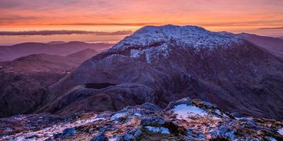 Winter Dawn over Barrslievenaroy, Maumturk Mountains, Connemara, County Galway, Ireland Photographic Print by Gareth McCormack