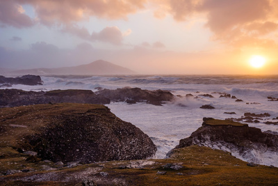 Stormy Evening on the Coast of Achill Island, County Mayo, Ireland Photographic Print by Gareth McCormack