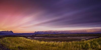 Sunset over Skeidararsandur Outwash Plains, Iceland Photographic Print by Ragnar Th Sigurdsson