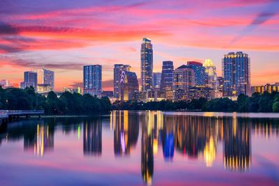 Austin, Texas, USA Skyline on the Colorado River Photographic Print by Sean Pavone