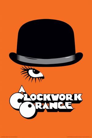 A Clockwork Orange- Bowler & Eyelash Posters