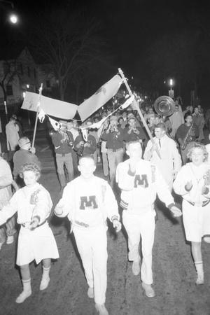 Cheerleaders at the Minnesota- Iowa Game, Minneapolis, Minnesota, November 1960 Photographic Print by Francis Miller