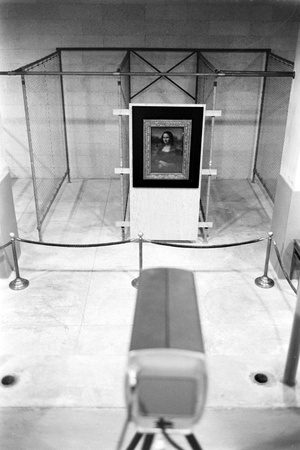 Mona Lisa on Loan to Usa Hanging in Vault at the National Gallery of Art. Washington D.C., 1962 Photographic Print by John Loengard