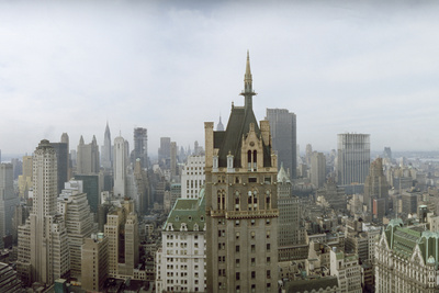 New York City Skyline Looking at Downtown from 5th Avenue and Central Park South Photographic Print by Dimitri Kessel