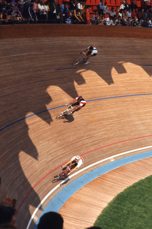 Bicycle Race at 1972 Summer Olympic Games in Munich Germany Photographic Print by John Dominis