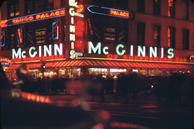 1945: Mcginnis Tango Palace Above the Roast Beef King Deli, 48th and Broadway, New York, NY Photographic Print by Andreas Feininger