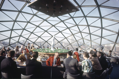 A Domed Cocktail Lounge on Top of 15 Story Capp Towers Hotel, Minneapolis, Minnesota, 1963 Photographic Print by Yale Joel