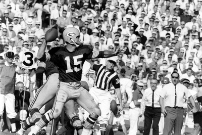 Quarterback Bart Starr of Green Bay Packers at Super Bowl I, Los Angeles, CA, January 15, 1967 Photographic Print by Art Rickerby
