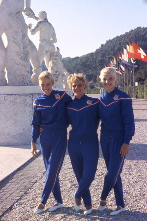 Usa Gymnasts Sharon Richardson, Doris Fuchs, and Muriel Davis-Grossfeld, 1960 Rome Olympic Games Photographic Print by George Silk