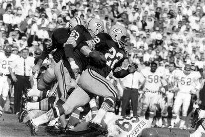 Green Bay Packer Elijah Pitts at Super Bowl I, Los Angeles, California, January 15, 1967 Photographic Print by Art Rickerby