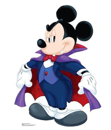 Disney Halloween Mickey Dracula Cardboard Cutouts
